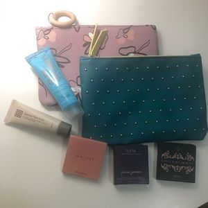 Other - 2 NEW Makeup bags with New sample beauty products